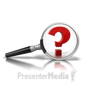 ID# 4858 - Magnify Question Mark - Presentation Clipart