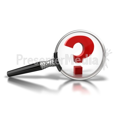 Magnify Question Mark PowerPoint Clip Art