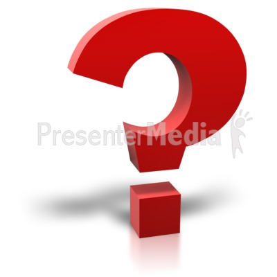 Single Red Question Mark PowerPoint Clip Art
