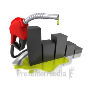 ID# 4882 - Gas Pump Graph Increase - Presentation Clipart