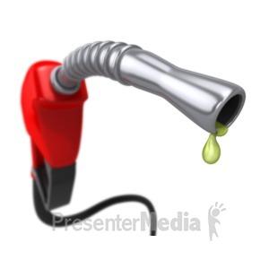 ID# 4885 - Gas Pump Closeup Blur - Presentation Clipart