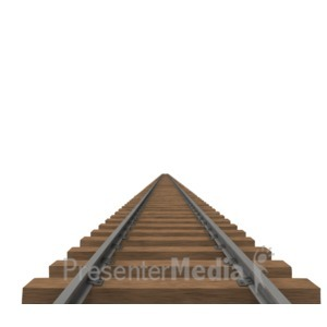 ID# 4888 - Train Track  - Presentation Clipart