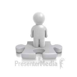 ID# 4901 - Single Puzzle Person - Presentation Clipart