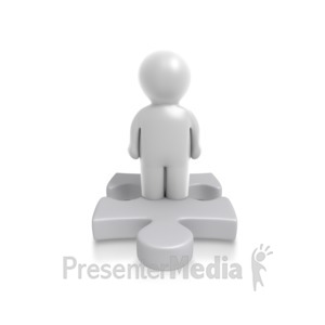 ID# 4902 - Single Puzzle Person - Presentation Clipart