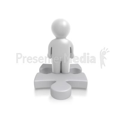 Single Puzzle Person PowerPoint Clip Art