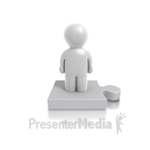 ID# 4908 - Single Puzzle Person - Presentation Clipart