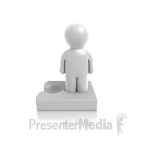 ID# 4910 - Single Puzzle Person - Presentation Clipart