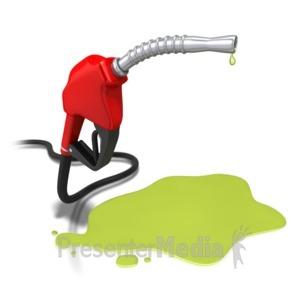 ID# 4912 - Gas Pump Nozzle Spill - Presentation Clipart