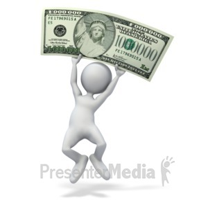 ID# 4942 - Happy Money Million Dollars - Presentation Clipart