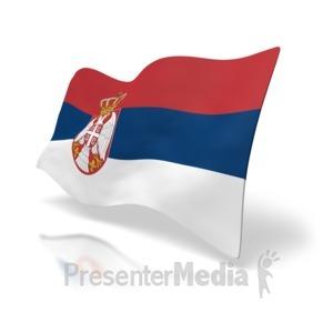 ID# 4950 - Serbia Flag - Presentation Clipart