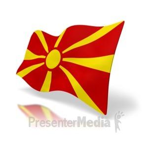ID# 4952 - Macedonia Flag - Presentation Clipart