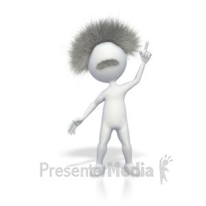 ID# 4984 - Smart Stick Figure with a Brilliant Idea - Presentation Clipart