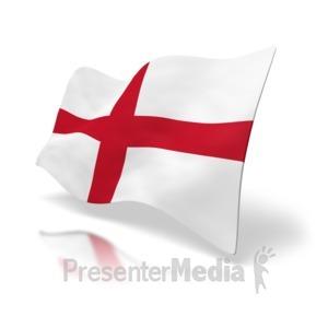 ID# 4993 - England Flag St. George's Cross - Presentation Clipart