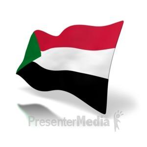 ID# 4995 - Sudan Flag - Presentation Clipart