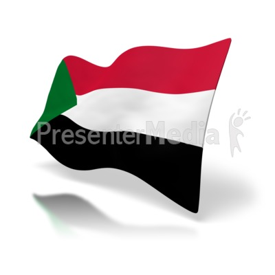 Sudan Flag PowerPoint Clip Art