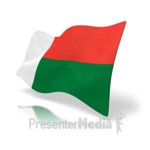 ID# 5002 - Madagascar Flag - Presentation Clipart
