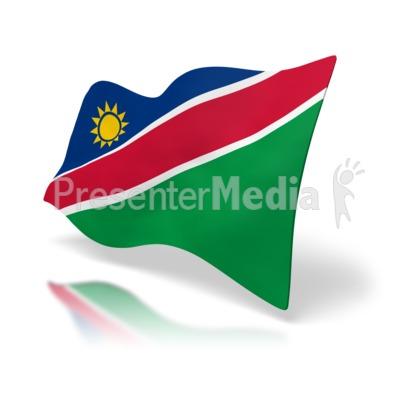 Namibia Flag PowerPoint Clip Art