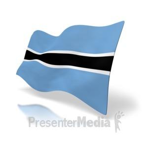 ID# 5009 - Botswana Flag - Presentation Clipart