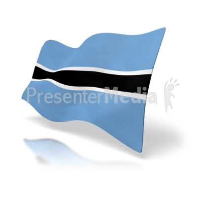 Botswana Flag PowerPoint Clip Art