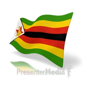 ID# 5012 - Zimbabwe Flag - Presentation Clipart