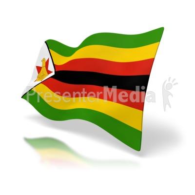 Zimbabwe Flag PowerPoint Clip Art
