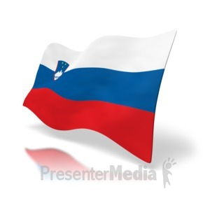 ID# 5016 - Slovenia Flag - Presentation Clipart