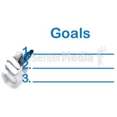 Write Your Goals Here PowerPoint Clip Art