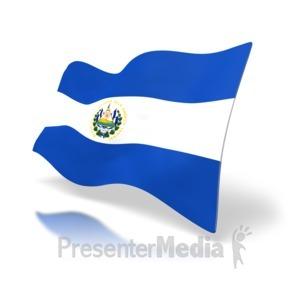 ID# 5041 - El Salvador Flag - Presentation Clipart