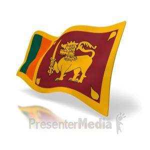 ID# 5042 - Sri Lanka Flag - Presentation Clipart