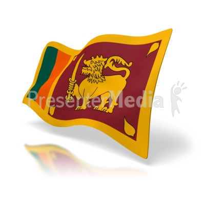 Sri Lanka Flag PowerPoint Clip Art
