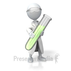 ID# 5056 - Scientist Test Tube - Presentation Clipart