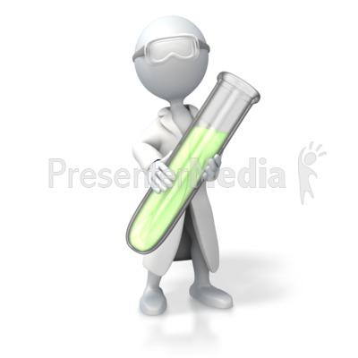 Scientist Test Tube PowerPoint Clip Art