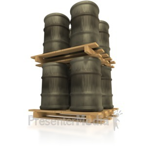 ID# 5082 - Pallet of Barrels Stacked - Presentation Clipart