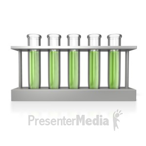ID# 5091 - Test Tubes Rack - Presentation Clipart