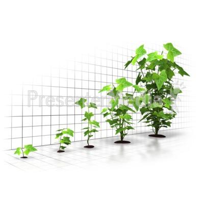 Organic Growth Graph PowerPoint Clip Art