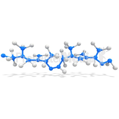 generic polymer molecule chain PowerPoint Clip Art