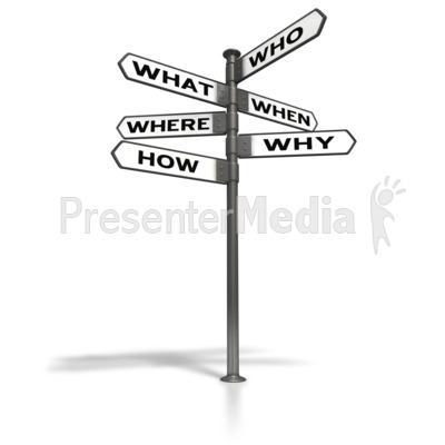 Street Sign Post Questions PowerPoint Clip Art