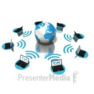 ID# 5114 - Earth Networking Laptops - Presentation Clipart