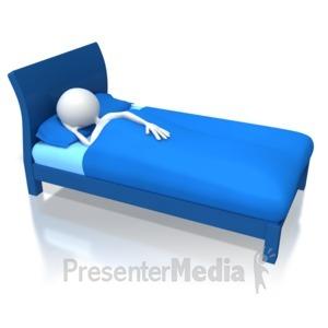 ID# 5121 - Stick Figure Sleeping - Presentation Clipart