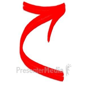ID# 5126 - Curved Arrow - Presentation Clipart