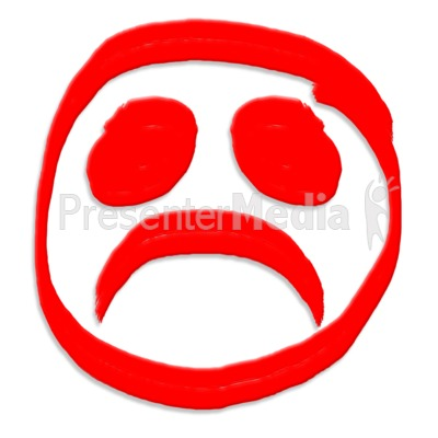 Frown Face Painted PowerPoint Clip Art