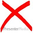 X Mark Painted Symbol Presentation clipart