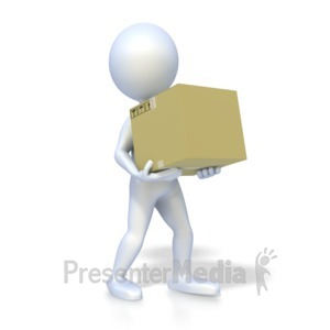 ID# 5148 - Stick Figure Carrying Box - Presentation Clipart