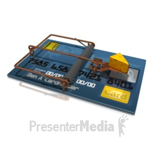 ID# 5149 - Credit Card Cheese Trap - Presentation Clipart