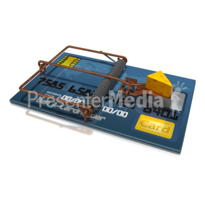 Credit Card Cheese Trap PowerPoint Clip Art