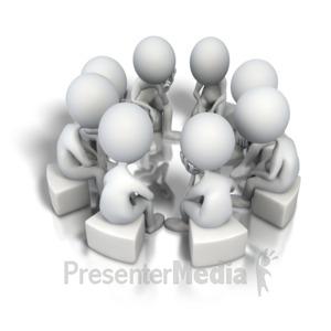 ID# 5160 - Corporate Circle Think Tank - Presentation Clipart