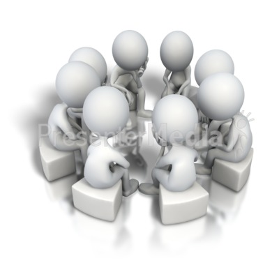 Corporate Circle Think Tank PowerPoint Clip Art