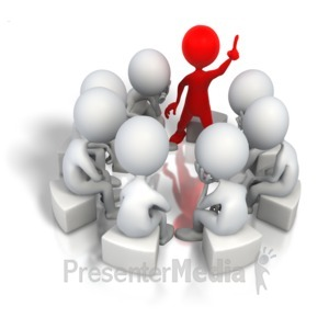 ID# 5163 - Corporate Think Tank Solution - Presentation Clipart