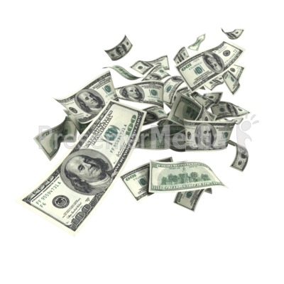 United States Dollar Falling PowerPoint Clip Art