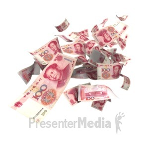 ID# 5173 - Chinese Yuan Falling - Presentation Clipart
